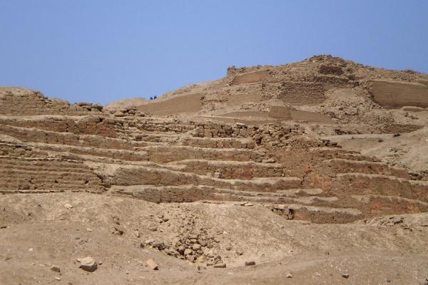 Picture of Pachacamac (Peru): Painted Temple with Temple of the Sun in the background