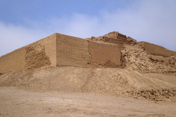 Picture of Pachacamac (Peru): View from below of the Temple of the Sun of Pachacamac