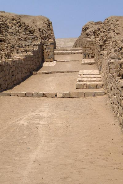Picture of Pachacamac (Peru): Remains of the Calle Norte Sur in the ruins of Pachacamac