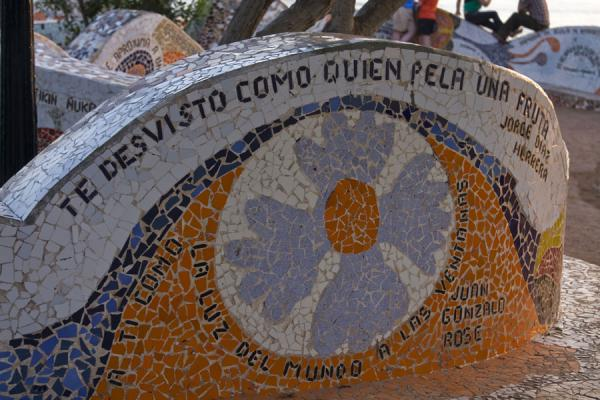 Picture of Parque del Amor (Peru): I undress you like someone peels a fruit, and other statements in the Parque del Amor