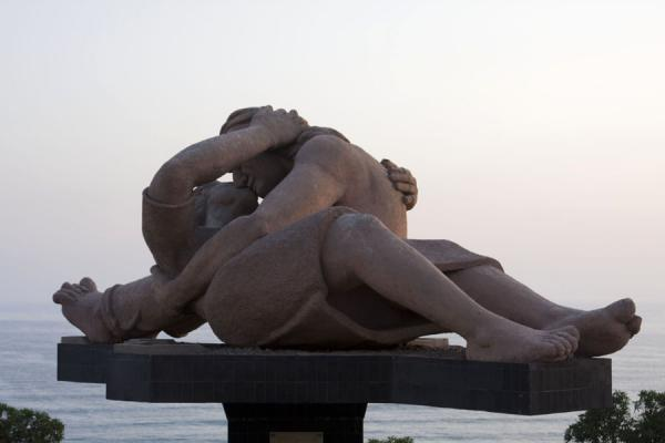 Picture of Parque del Amor (Peru): The Kiss, a sculpture of a young couple kissing, takes centre stage in the Parque del Amor