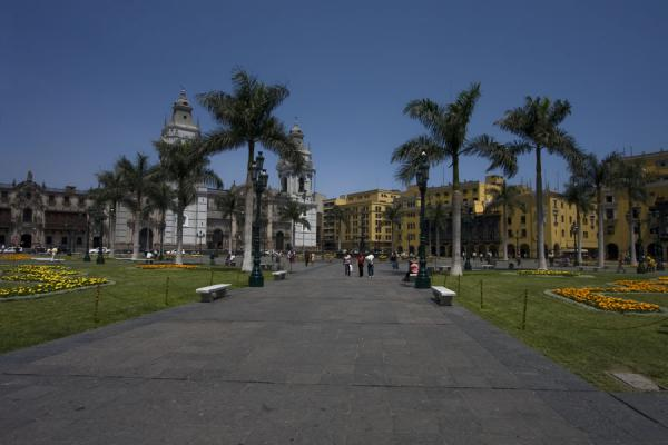 Looking across the Plaza de Armas towards the cathedral | Plaza de Armas | Peru