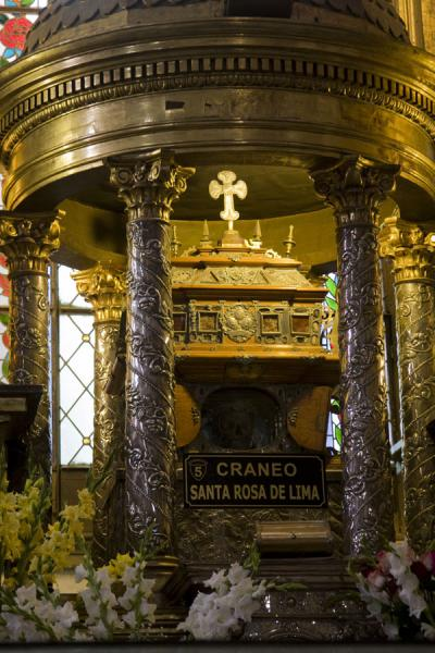 The skull of Santa Rosa de Lima | Santo Domingo church and monastery | Peru