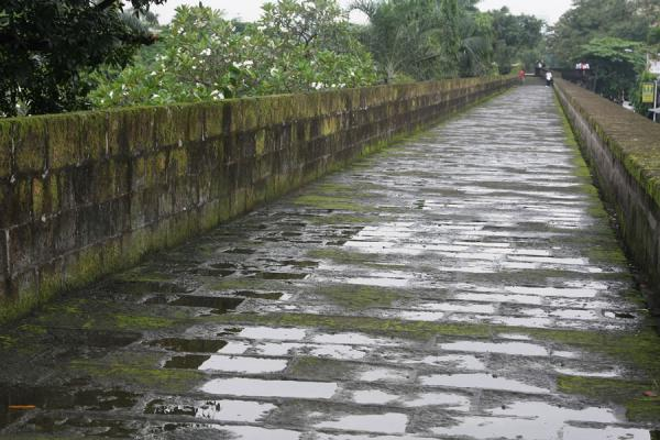 Foto van The defensive wall of Intramuros is so wide you can easily walk on itManilla - Filippijnen