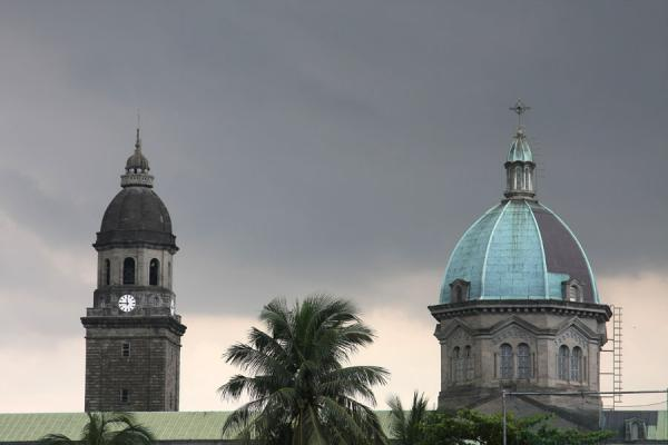 Picture of Dark sky over the Cathedral of Manila