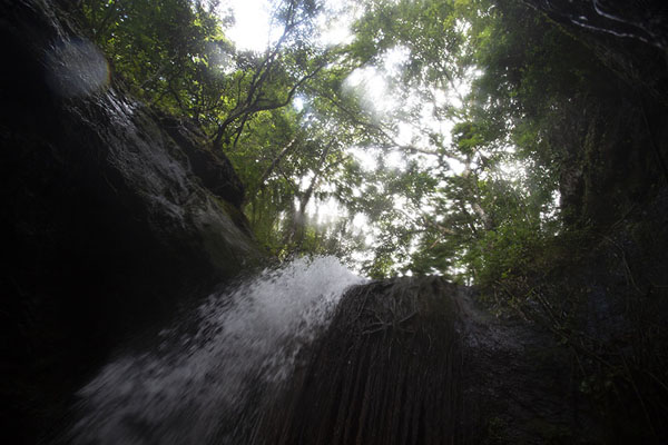 The upper, or third, Kuyawyaw falls seen from below | Cascadas de Kuyawyaw | Filipinas