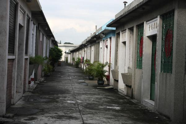 Picture of Chinese cemetery (Philippines): One of the many grave alleys in the Chinese cemetery