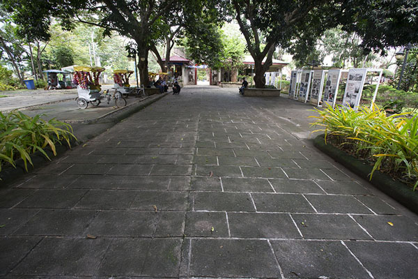 Foto di Central pathway dividing Plaza Cuartel in two partsPuerto Princesa - Filippine