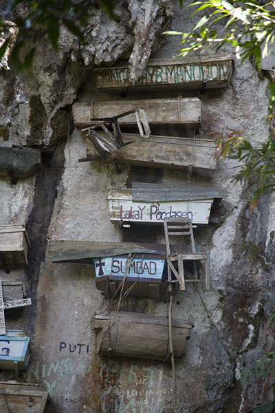 Cliff with coffins in Sagada | Ataúdes colgantes de Sagada | Filipinas