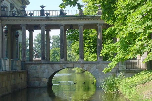 Bridge over one of the lakes | Lazienki Park | Poland