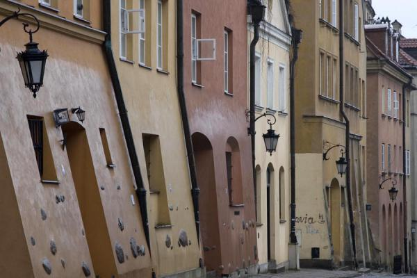 Foto van Close-up of street in the Old City of WarsawWarschau - Polen