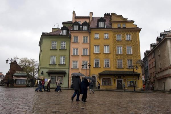 Square in the Old Town in the rain | Stare Miasto | Poland