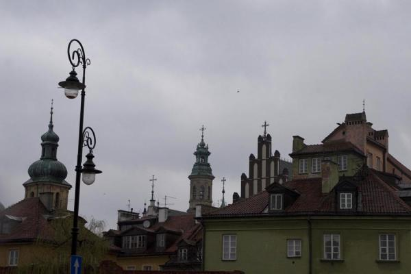 Foto van Lanterns and spires define the skyline of the Old TownWarschau - Polen