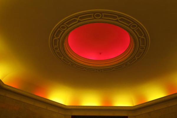 Red light in the ceiling of the cinema of the Palace of Culture | Palace of Culture | Poland