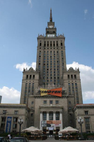 Tower of the Palace of Culture from below | Palace of Culture | Poland