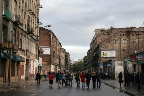 People walking one of the streets in the Praga district | Praga district | Poland