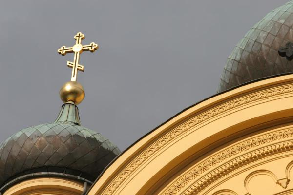 Close-up of St. Mary Magdalene's orthodox church | Praga district | Poland