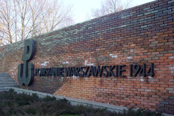 Picture of Warsaw uprising monument (Poland): Wall of remembrance of the monument