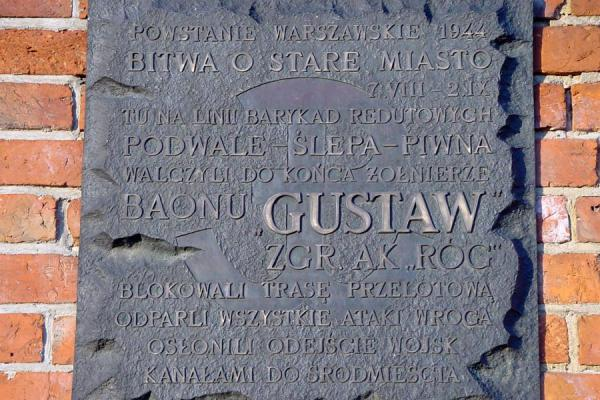 On the wall of the city which did not protect it against the Germans | Warsaw War memorial stones | Poland