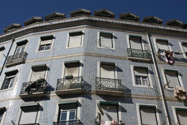 Picture of Many houses in Alfama are covered by tilesLisbon - Portugal