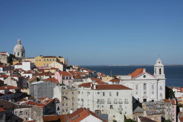 Picture of View over Alfama from the Miradouro de Santa LuziaLisbon - Portugal