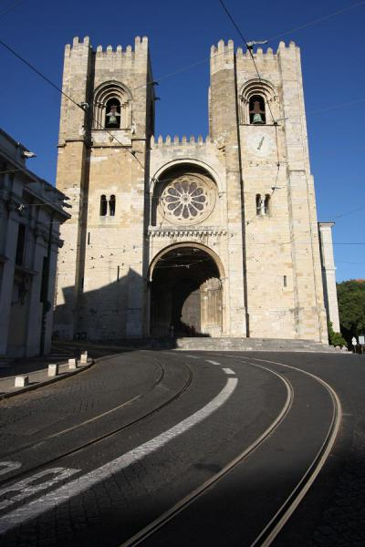 Picture of Sé Cathedral in western AlfamaLisbon - Portugal