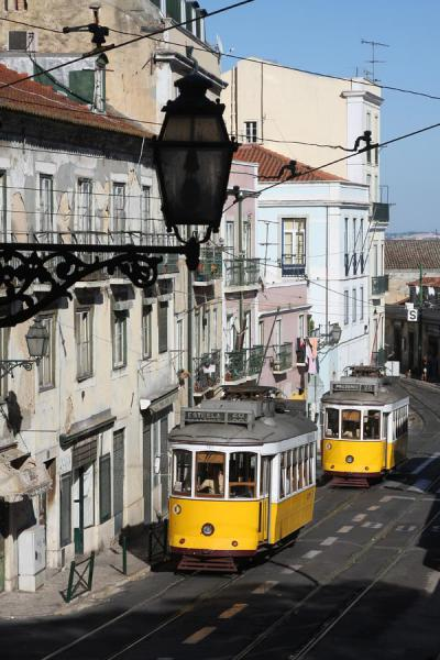 Picture of Streetcars in the streets of AlfamaLisbon - Portugal