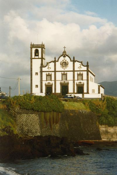 Church standing defiantly on the coast | Azores | Portugal