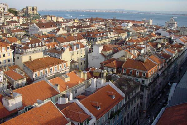 Picture of Baixa Lisbon (Portugal): Baixa seen from above, Lisbon