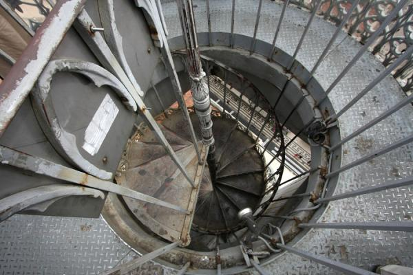 Picture of Stairs leading down from the viewing platform of Santa Justa liftLisbon - Portugal