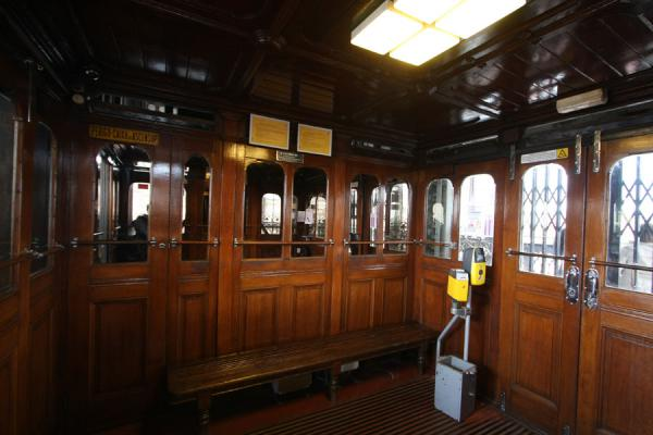 Picture of Wooden interior of the Elevador de Santa JustaLisbon - Portugal