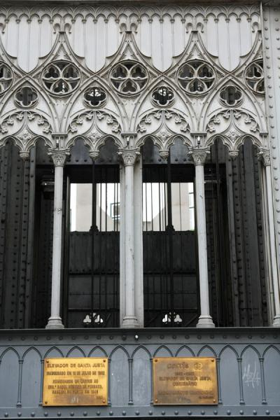 Picture of Santa Justa Lift (Portugal): Gothic detail of the Elevador de Santa Justa