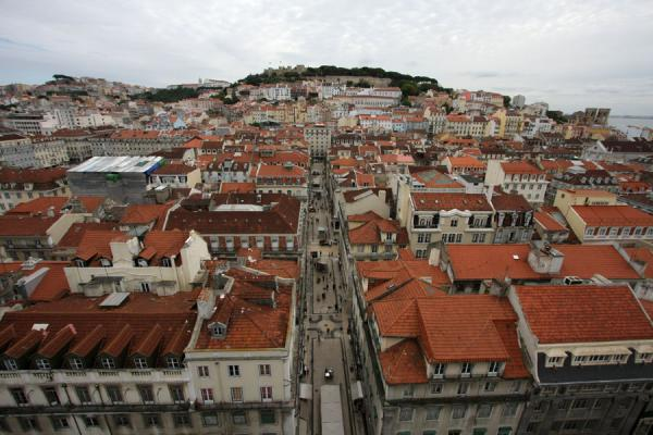 View towards Castelo São Jorge | Santa Justa Lift | Portugal