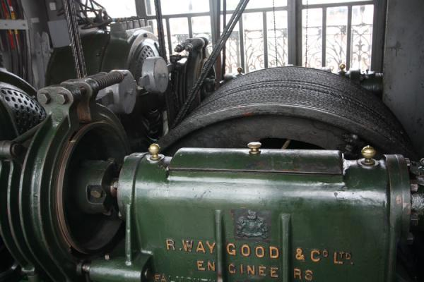 Picture of British made engine taking care of the elevatorLisbon - Portugal