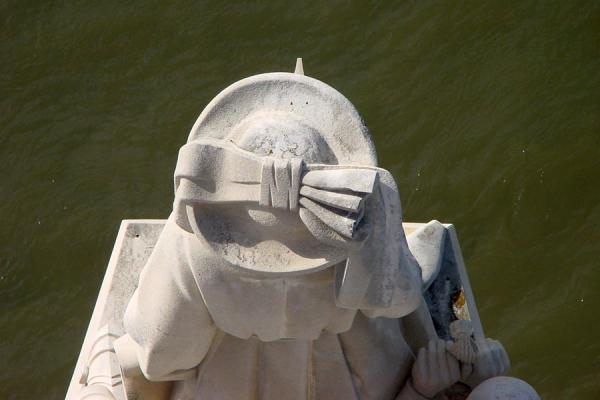 Looking down on the head of Henry the Navigator | Monument of Discoveries | Portugal