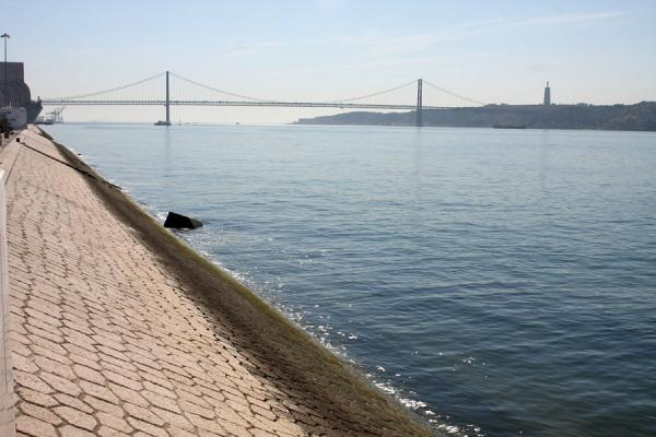 Picture of Bridge of 25 April and the Monument to the DiscoveriesLisbon - Portugal