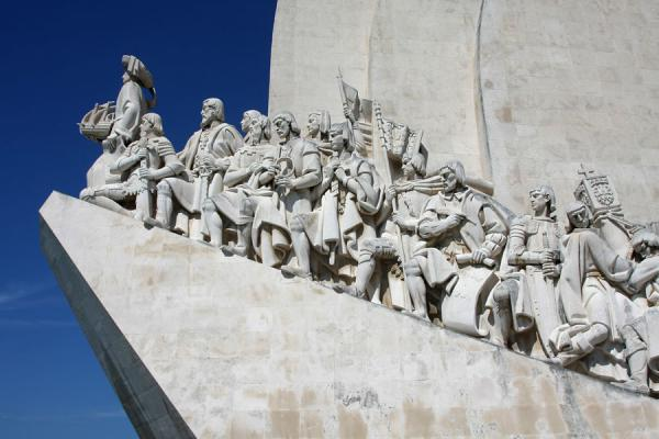 Picture of Famous Portuguese explorers, scientists and cartographers represented on the Monument of the DiscoveriesLisbon - Portugal