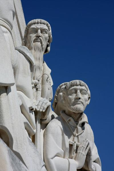 Close-up of two personalities at the Monument to the Discoveries | Monument of Discoveries | Portugal