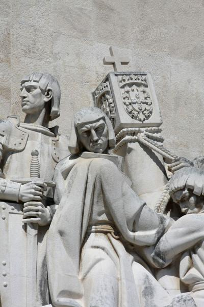 Close-up of the Portuguese personalities at the monument | Monument of Discoveries | Portugal