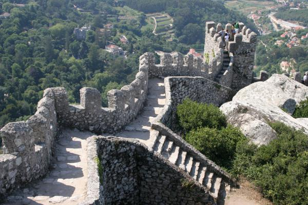 Wall and stairs of the Moorish Castle or Castelo dos Mouros | Moorish Castle | Portugal