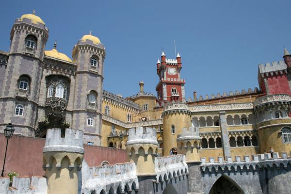 Picture of Palace of Pena (Portugal): National Palace of Pena in all its colours