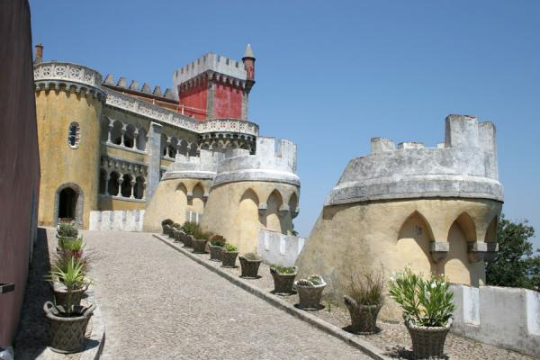 Picture of Palace of Pena: walking up to visit the palace