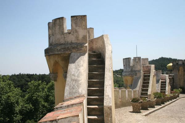 Turrets with nice views at the Palace of Pena | Palace of Pena | Portugal
