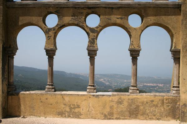 A splendid view towards the ocean through these arches | Palace of Pena | Portugal