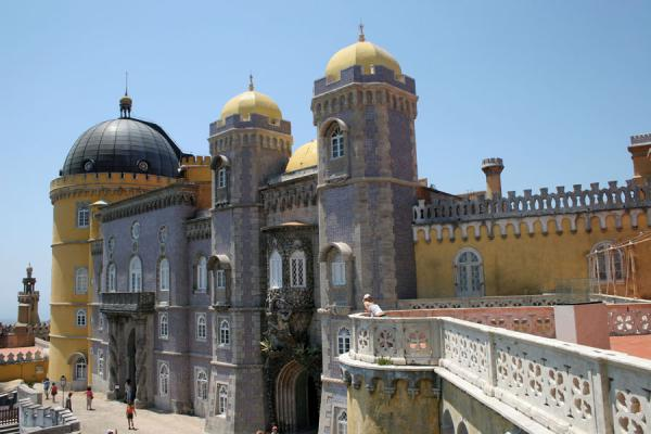 Picture of Palace of Pena (Portugal): Palace of Pena with cupolas and balconies