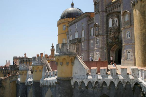 Picture of Palace of Pena (Portugal): Palace of Pena seen from one of the balconies