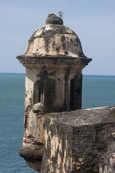 Garita used to keep an eye on possible invaders coming from the sea | Castillo San Felipe del Morro | Puerto Rico