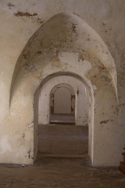 Looking through arches inside the Fort San Felipe del Morro | Castillo San Felipe del Morro | Puerto Rico