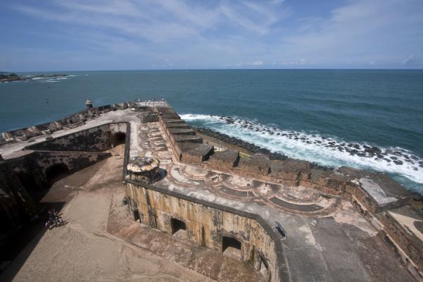 的照片 波多黎各 (View from the upper floor of the Fort San Felipe del Morro)