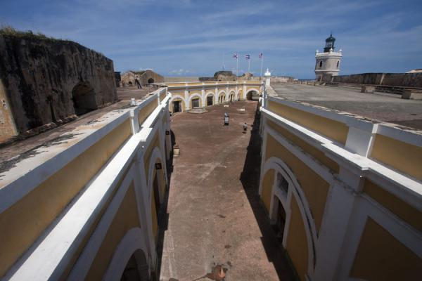 Foto de View of the central plaza of the fortCastillo San Felipe del Morro - Puerto Rico